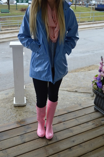 Rainy Day Attire Featuring Lemon Jelly